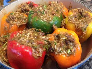 Stuffed Peppers with Black Beans and Rice in Thermomix