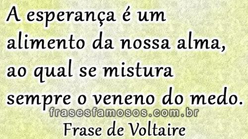 Frase de Voltaire sobre Esperança