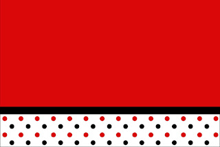 Red Polka Dots in Black and White Free Printable Invitations, Labels or Cards.