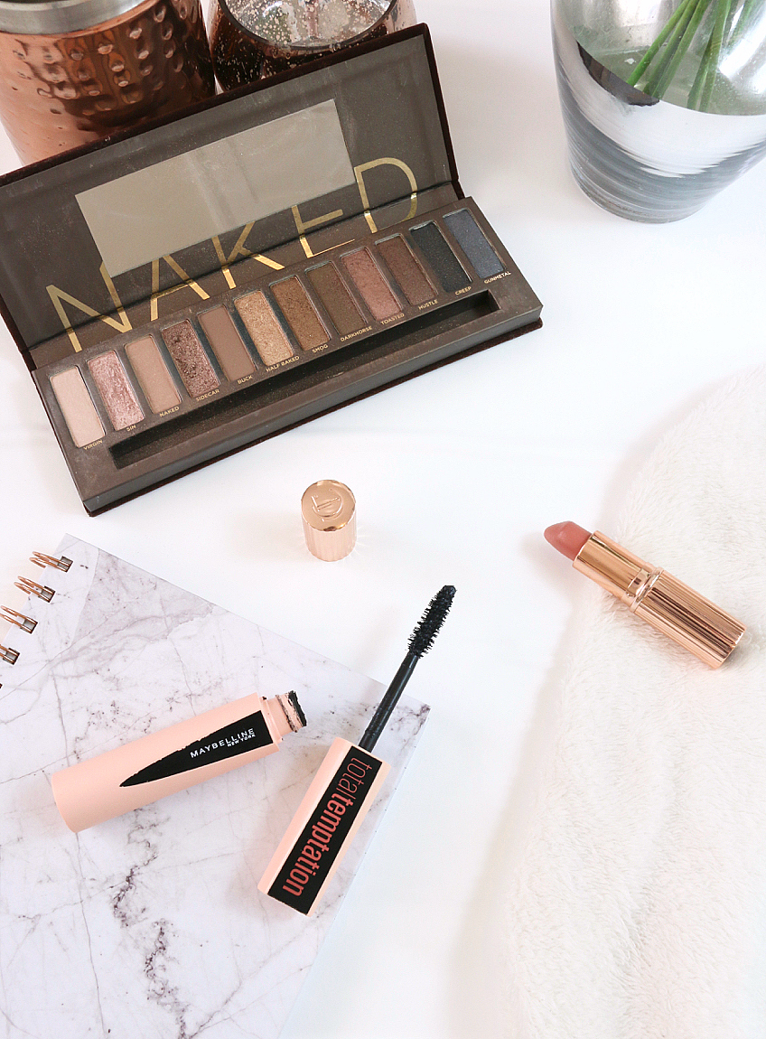 February Favourites including Urban Decay Naked Palette, Maybelline Total Temptation Mascara and Charlotte Tilbury's Bitch Perfect Lipstick