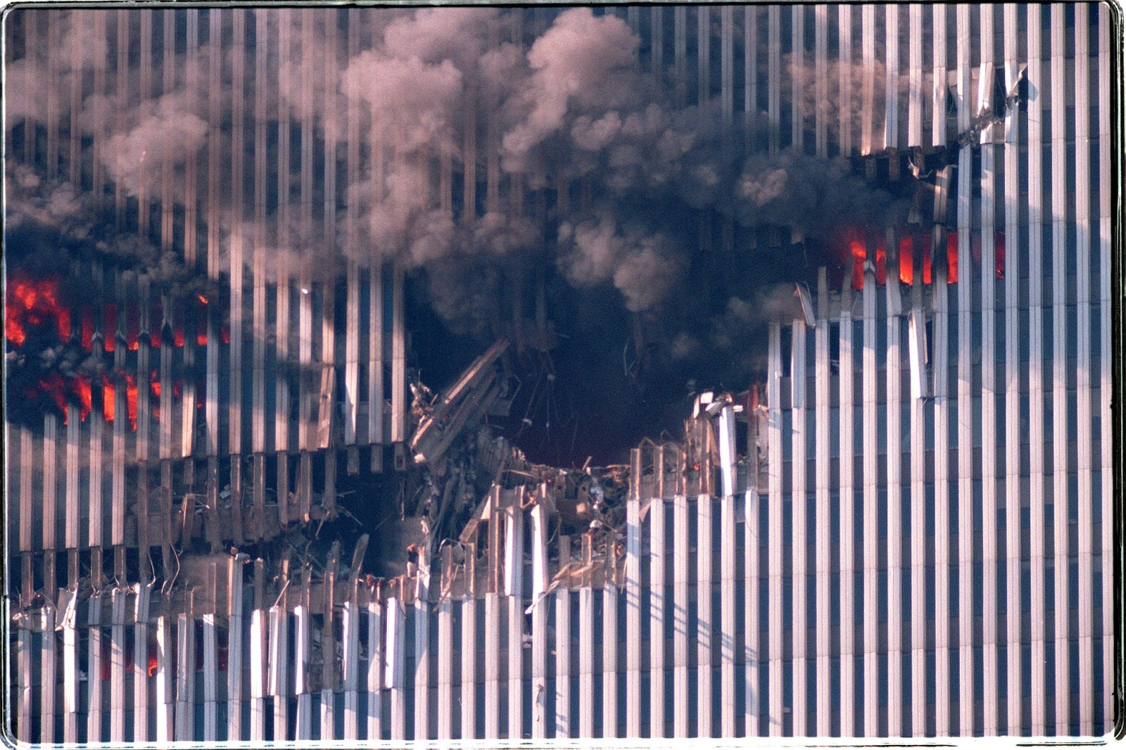 WTC1 airplane hole