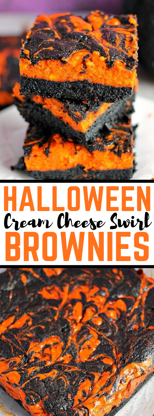 HALLOWEEN SWIRL CREAM CHEESE BROWNIES #partydessert #cake