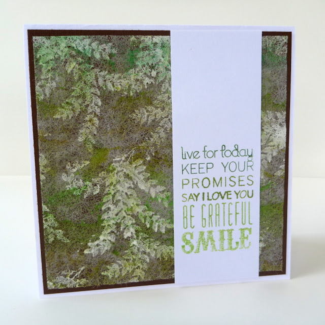 Gesso Stamped Dryer Sheet Card by Dana Tatar