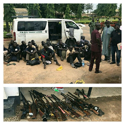 See Arms Recovered From Men Posing As Travellers (Pics)