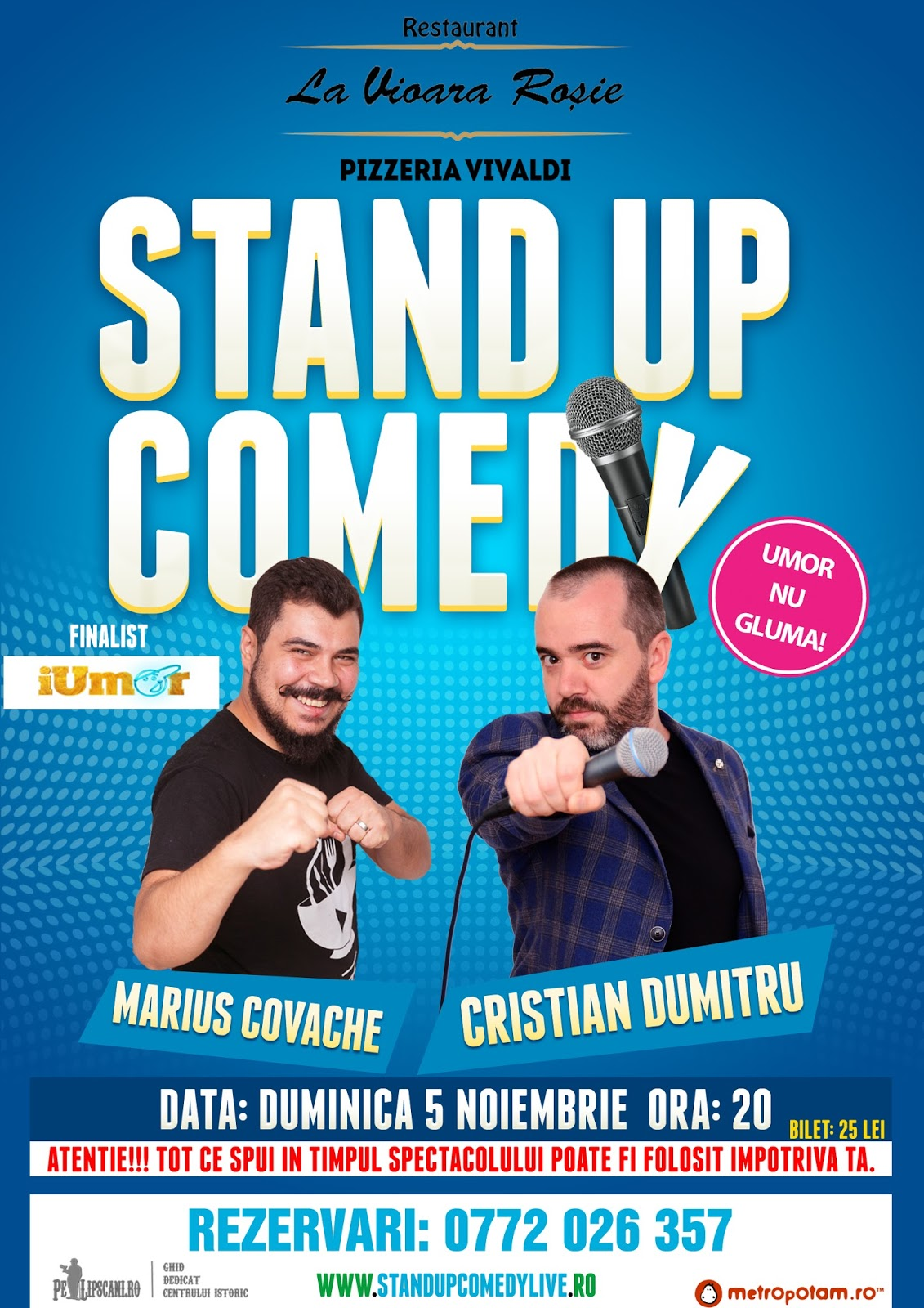 Stand-Up Comedy Bucuresti Duminica 5 Noiembrie 2017