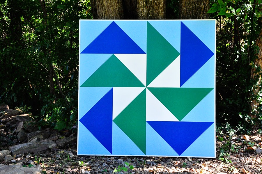 On Quincy Street Barn Quilt 1 Dutchman S Puzzle