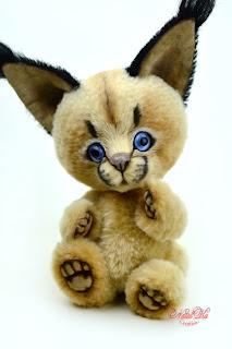 Artist teddy caracal, teddy ooak, NatalKa Creations, teddies with charm, caracal teddy, artist caracal, Künstler Karakal, Unikat, Künstlerteddy, Teddy, Teddys, Karakal