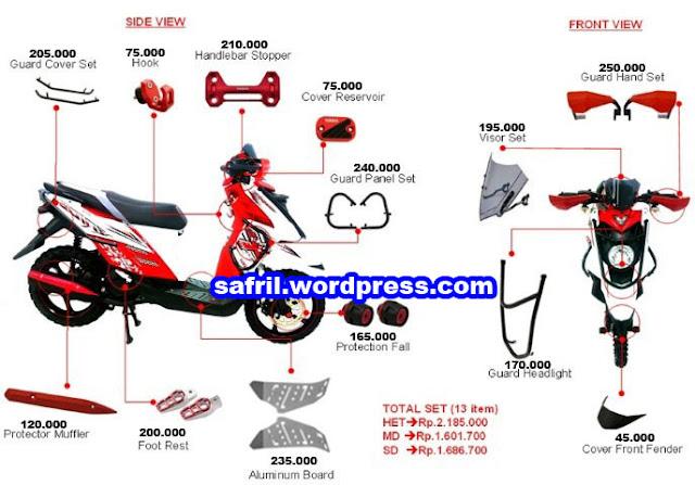 Daftar aksesoris original Yamaha X-Ride 2013