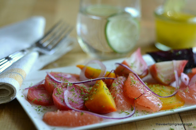 Grapefruit and Roasted Beet Salad is a delicous way to stay healthy and it fits into low carb, low calorie, Paleo and gluten free diets