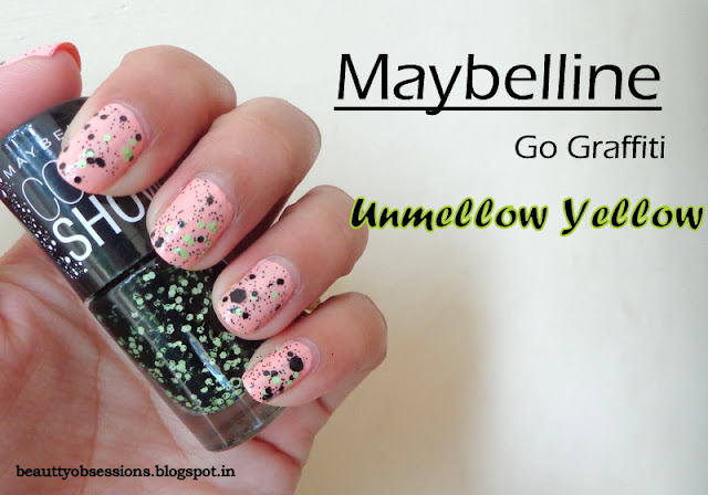 "Maybelline ColorShow Go Graffiti Nail Polish ""Unmellow Yellow"" Review and Swatches.."