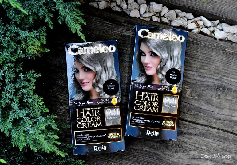 Domowa koloryzacja farbą do włosów Cameleo OMEGA+ Frozen Blond 9.11 Delia - recenzja farby