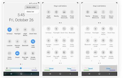 Samsung navigation menu