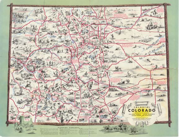 Colorado State Publications Library Time Machine Tuesday - Colorado state map