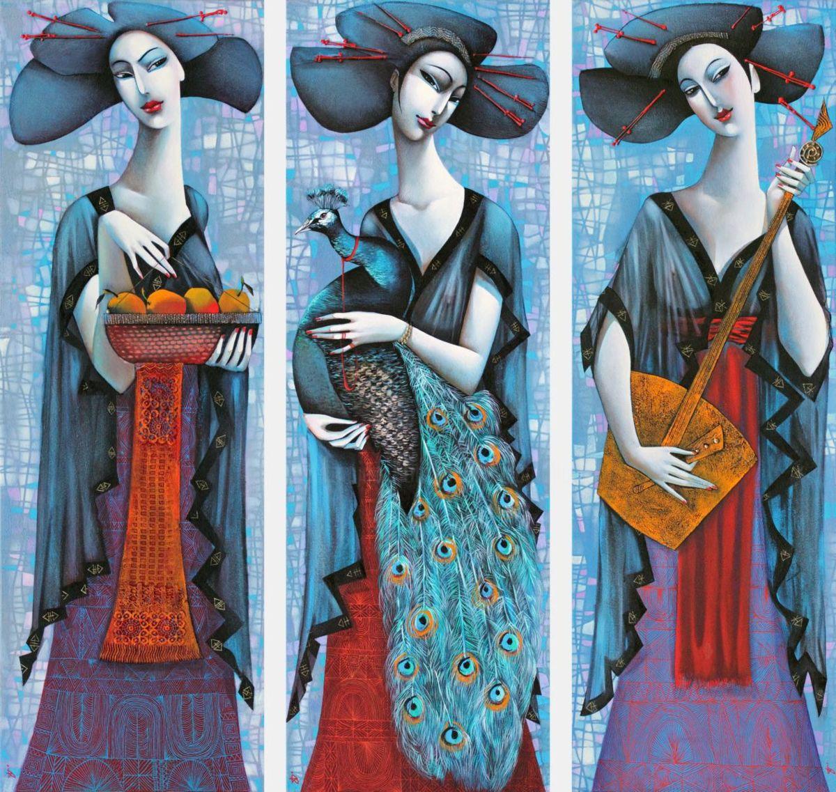 Ira Tsantekidou Three Geischas