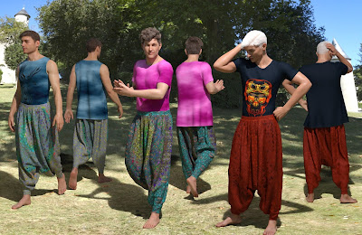 dForce East Meets West Outfit for Genesis 8 Male