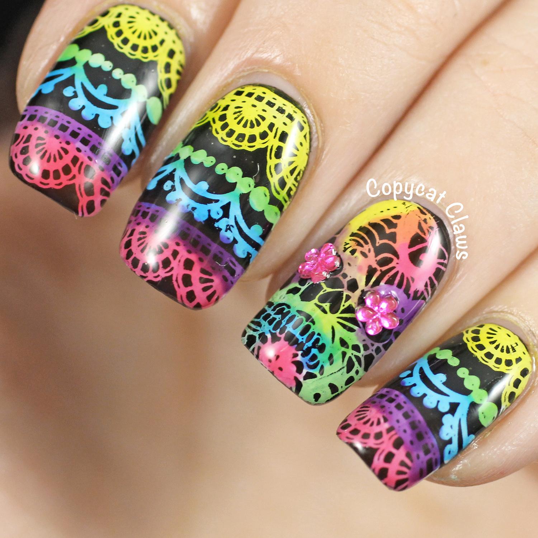 Copycat Claws: Lacy Sugar Skull Nail Stamping