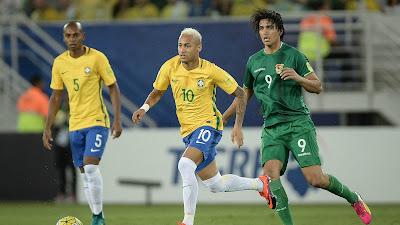 Horário do jogo Brasil x Bolívia - 05-10-2017.