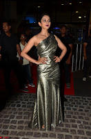 Rakul Preet Singh in Shining Glittering Golden Half Shoulder Gown at 64th Jio Filmfare Awards South ~  Exclusive 016.JPG