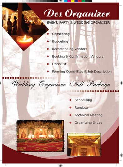 A Collection Of My Design Work Des Iskandar Leaflet About Wedding Organizer