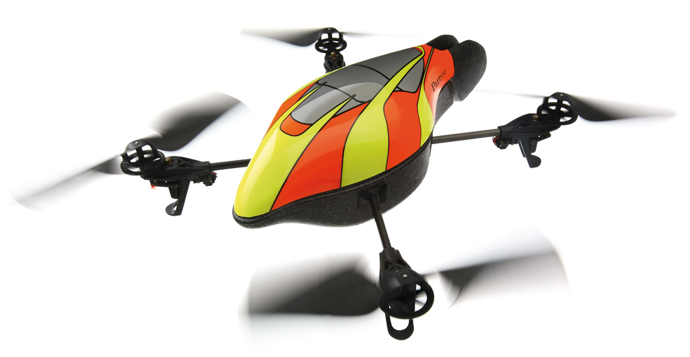 parrot flying drone
