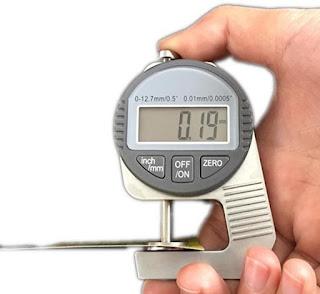 Thickness Gauge 0-12.7mm - Kertas Plastik Kain Logam
