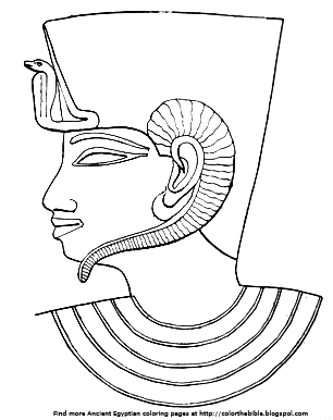 Color This Egyptian Headdress