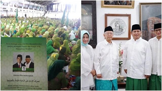 Doa Muslimat NU Nuansa Jokowi - Ma'ruf, Peserta: Yang Jadi Insyaallah Pak Prabowo
