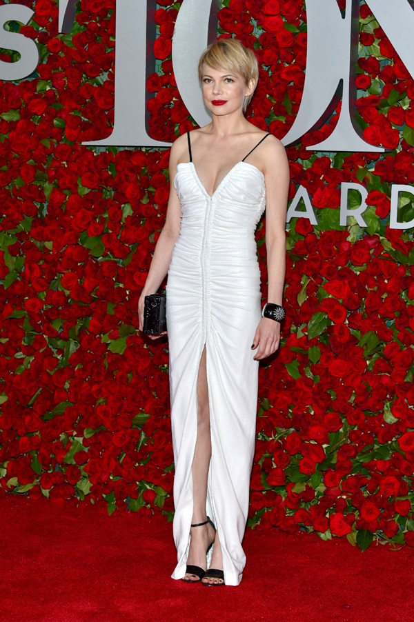 Michelle Williams wears Louis Vuitton to the 2016 Tony Awards in NY