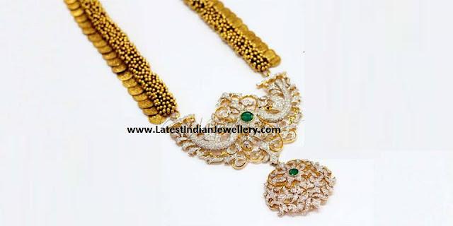 Diamond Kasulaperu Peacock Pendant