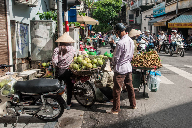 De compras en Hanoi