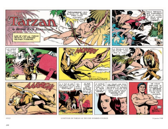 Tarzan : l'intégrale Russ Manning Newspaper strips Volume 1 1967-1969 aux éditions Graph Zeppelin page 216
