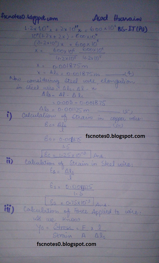 F.Sc ICS Notes: Physics XII: Chapter 17 Physics of Solids Numerical Problems by Asad Hussain 6