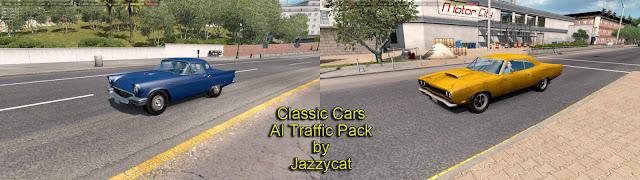 ats classic cars ai traffic pack v2.6 screenshots 1, ford thunderbird '57, Plymouth Road Runner '69