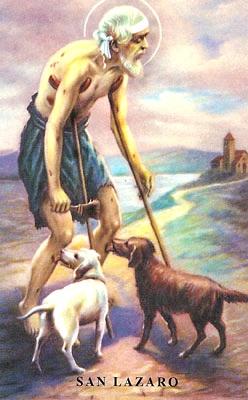 Dbujo de San Lázaro en la vejez
