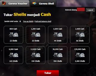 Cara Mengisi Shell Garena Dengan CC Tanpa Banned