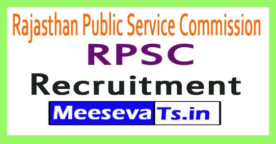 Rajasthan Public Service Commission RPSC Recruitment