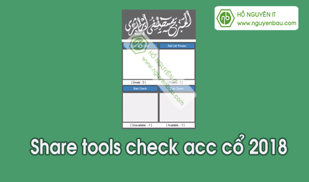 Share Tools check acc cổ 2018