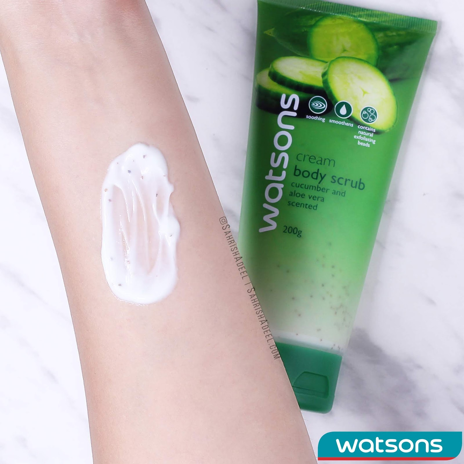Watsons Gel Body Scrub Cucumber & Aloe Vera - Review