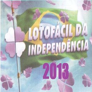 Lotofácil da Independência 2013 concurso 952