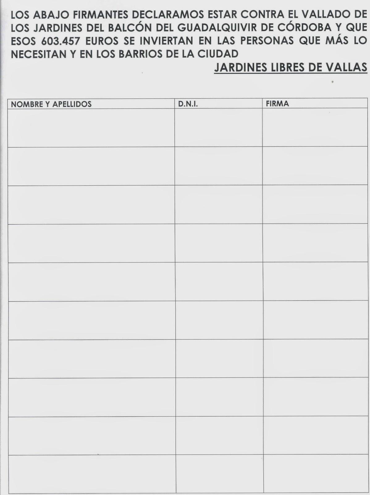 Asociacion Guadalquivir Recogida De Firmas Contra El Vallado Del Balcon Del Guadalquivir