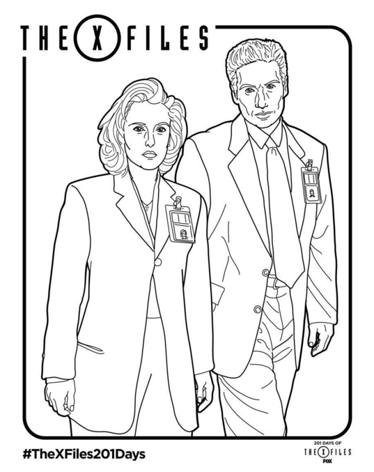 X-Files Coloring Page