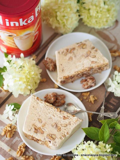 domowe lody kawowo orzechowe, deser lodowy, lody z kawa inka, kawa zbozowa, deser kawowy, orzechy wloskie, jak zrobic lody w domu