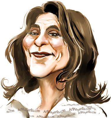 Suzanne Reuter är en karikatyr av Artmagenta