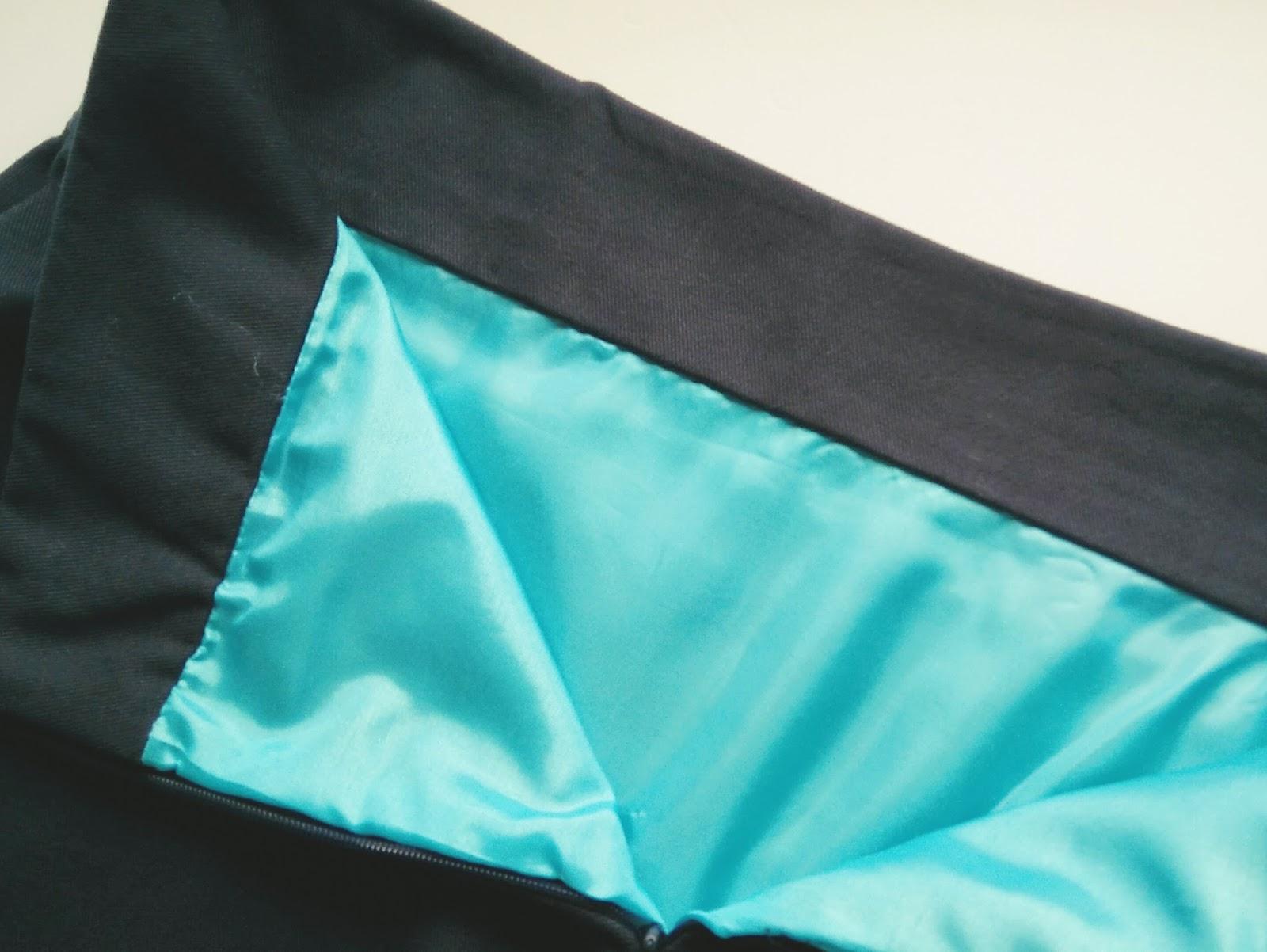 Lined Delphine skirt