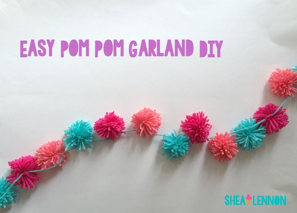 A super easy and fun DIY - a yarn pom pom garland | www.shealennon.com