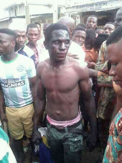 Another Badoo Cult Member Caught In Ogijo, Beaten To Pulp By Mob (Photos)