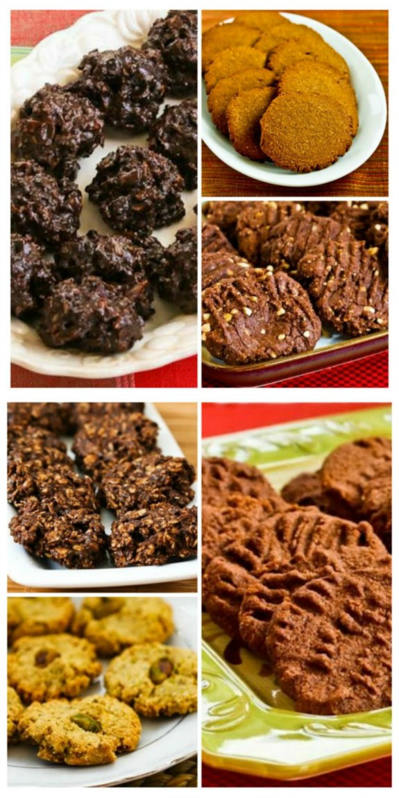 15 Delicious Low-Sugar or Sugar-Free Cookies to Bake for the Holidays [found on KalynsKitchen.com]