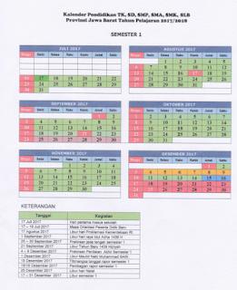 Kalender Pendidikan TK SD SMP SMA SMK Tahun Pelajaran 2017-2018 Format pdf
