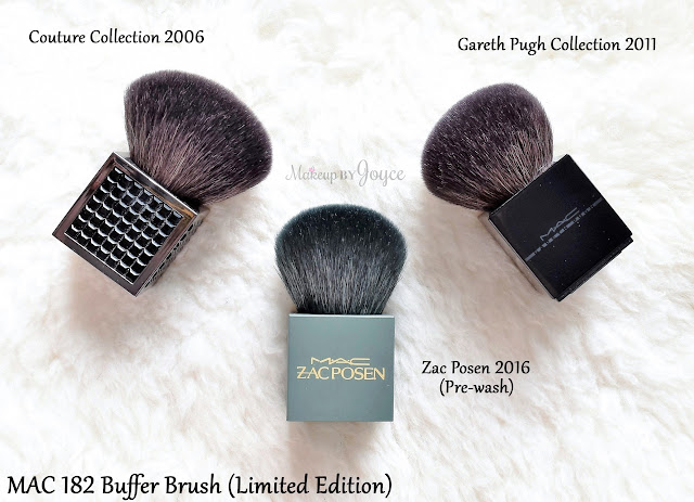 MAC 182 Buffer Brush Square Handle Limited Edition Couture Zac Posen Gareth Pugh 2006 2011 2016 Collection