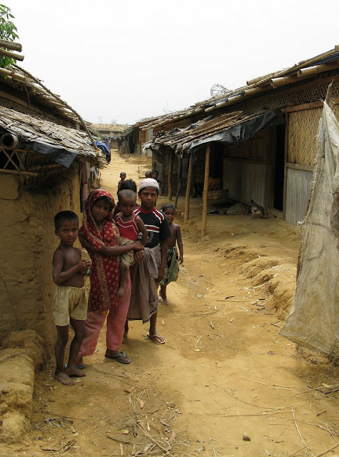 Rohingya children in the Nayapara refugee camp. The Rohingyas are a persecuted ethnic and religious minority from Myanmar, and the groups in Cox's Bazar fled that persecution in 1991 to live in Bangladesh. Photo: Ruben Flamarique/Austcare